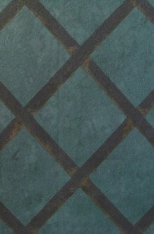 Detail of the trellis wallpaper